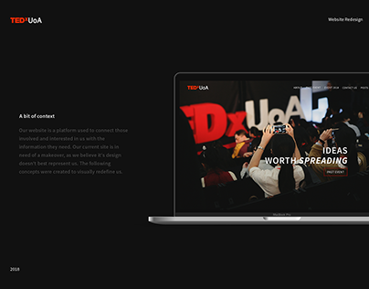 TEDxUoA | Website Redesign