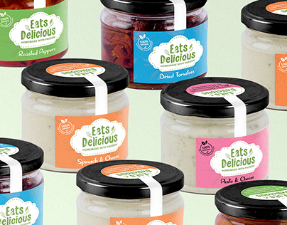 Eats Delicious Brand Identity and Packaging