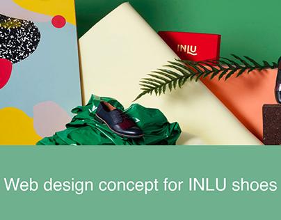 INLU shoes | Web design concept