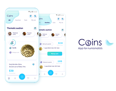 Coins. App for numismatists