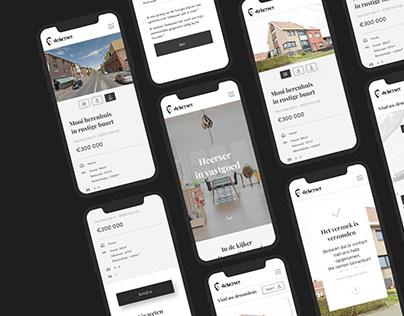 UI/UX website design for real estate sale