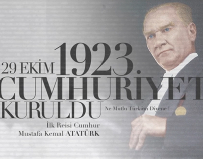 Cumhuriyetimizin 92. yılı Kutlu Olsun