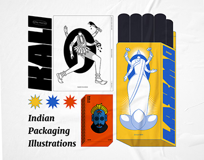 Indian Packaging Illustrations