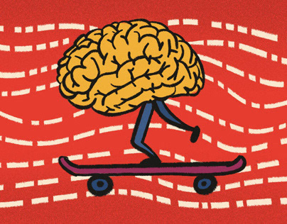 Illustrations about the brain