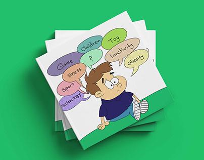 fit vs. FAT : A wordless illustration book for children