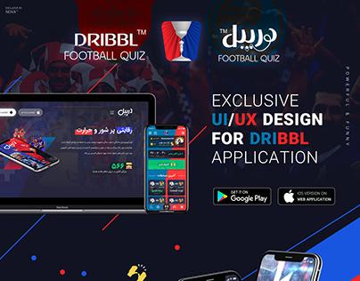 UI/UX Design Dribbl Football Quiz Application
