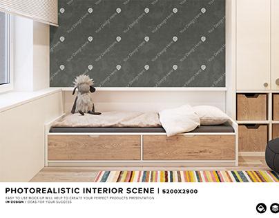 Wall design interior mock -up