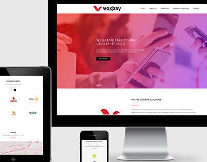 Wordpress Website Theme for Voxbay