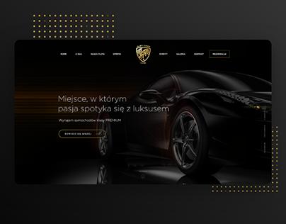 Luxury Car - rental web design