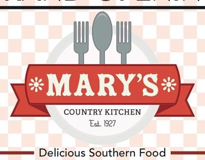Country Kitchen Logo mary's country kitchen git 135 on behance