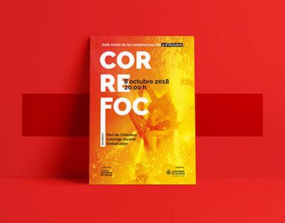 """Cartel """"Correfoc"""" El Saler 2018"""