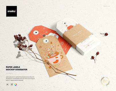 Paper Labels Mockup Set