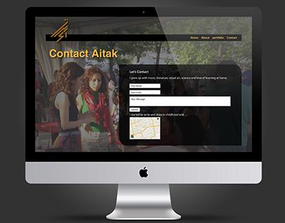 Artist's webdesign