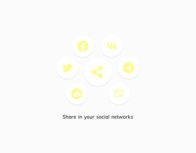 Social Share #DailyUI #010