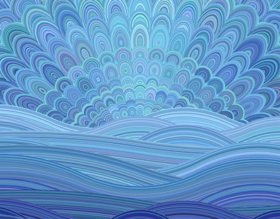 Colorful Abstract Landscape Artworks