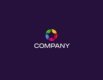 Color drop logo design