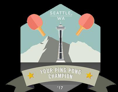 Ping Pong Champion Badge