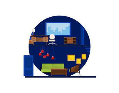 Illustration Set - Interiors