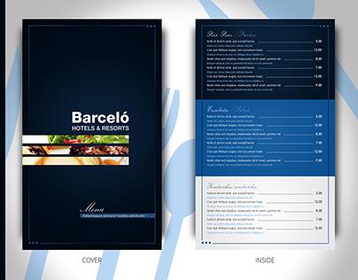 Menú Restaurante Barceló