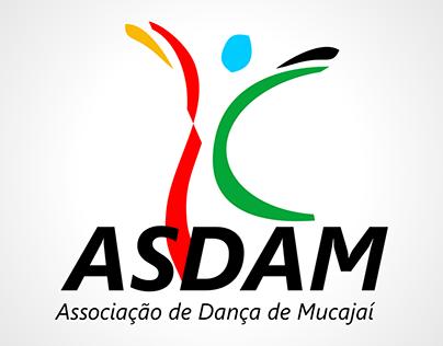 """Logomarca """"Associação de Dança de Mucajaí"""""""