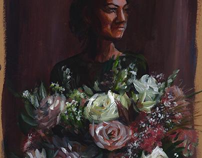 Flowers: roses (acrylic)
