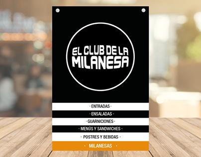 """Menu Redesign of """"El Club de la Milanesa"""""""