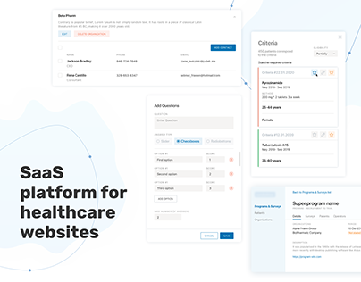SaaS platform for healthcare websites