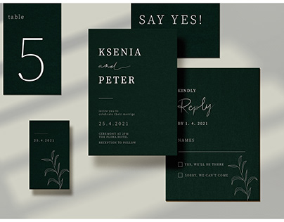 Minimalism Wedding Invitation