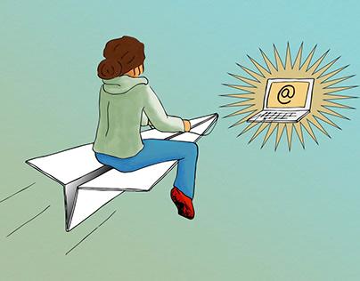 Signup for newsletter illustration