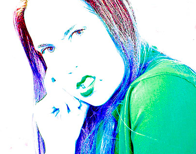 Portrait photography edited funky style