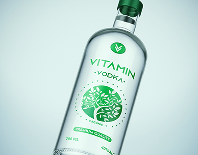 """VITAMIN"" vodka label"