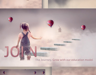 Animate banner for kids education firm