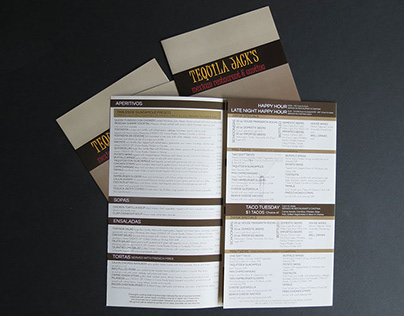 Tequila Jacks - AA Graphics - Menu Design