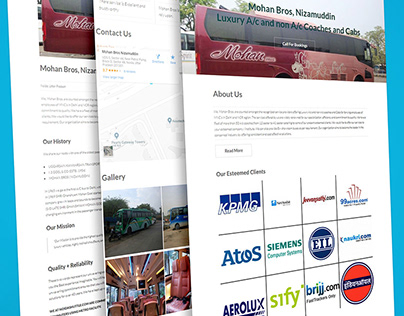 One Page Website - Mohan Bros