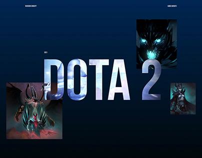 DOTA 2 | Website redesign