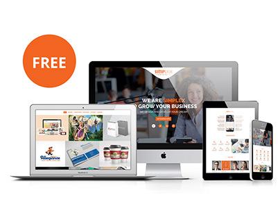 simplex - One page multipurpose corporate  PSD Template