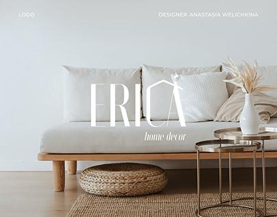 Logo магазина декора и текстиля для дома