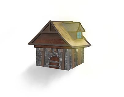 Medieval House Illustration
