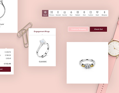 Online Jewelry Shopping - UI Design