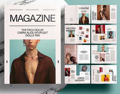 InDesign Template - Editorial Magazine Layout