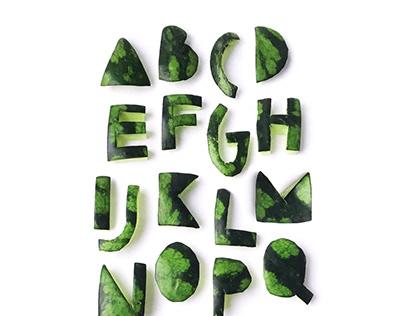 Арбузный шрифт