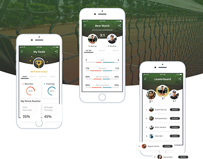 Tennis app concept