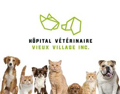 Hôpital Vétérinaire Vieux Village // Branding
