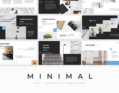 MINIMAL - template presentation PowerPoint + Keynote