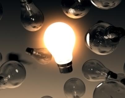 Floating Lightbulbs 3D