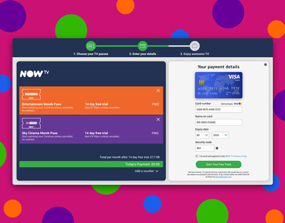 NOW TV Credit Card Checkout - Daily UI #002