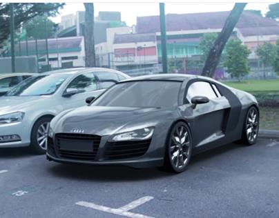 Audi R8 Matchmoving using Maya and Pftrack