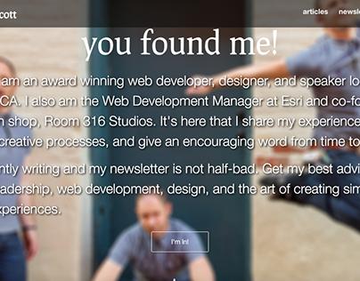JoshNorthcott.com Web Design - 2015