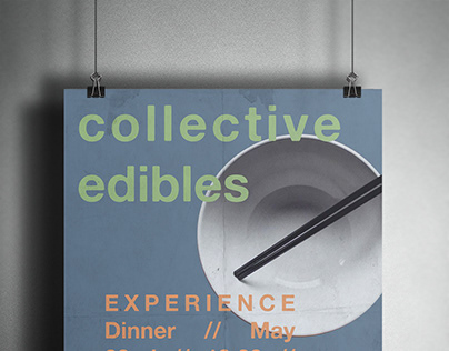 Event Poster Experience Dinner