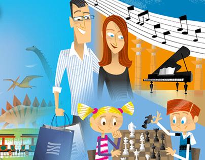Ilustraciones para campaña 'Actividades Nuevo Centro'